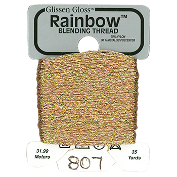 Glissen Gloss Rainbow Blending Thread 807 Light Copper MAIN