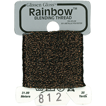 Glissen Gloss Rainbow Blending Thread 812 Dark Brown MAIN
