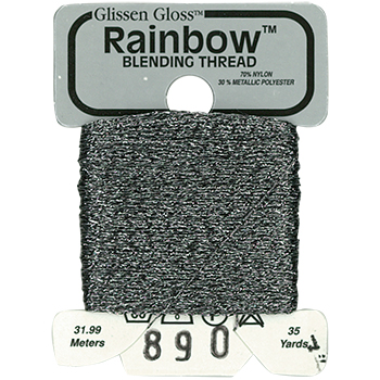 Glissen Gloss Rainbow Blending Thread 890 Grey THUMBNAIL