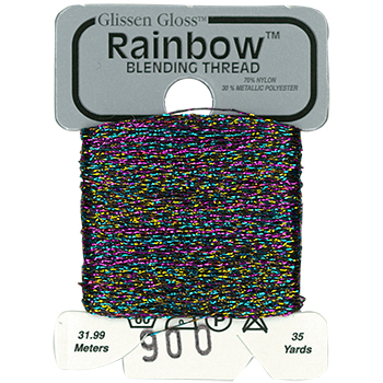 Glissen Gloss Rainbow Blending Thread 900 Multi-Black THUMBNAIL