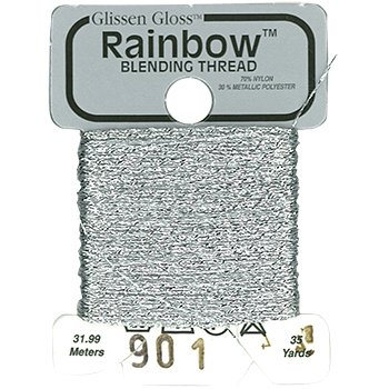 Glissen Gloss Rainbow Blending Thread 901 Silver THUMBNAIL
