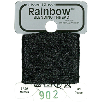 Glissen Gloss Rainbow Blending Thread 902 Black THUMBNAIL