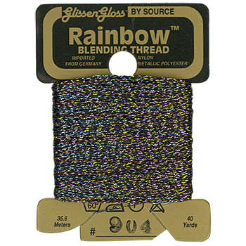 Glissen Gloss Rainbow Blending Thread 904 Black Flame THUMBNAIL