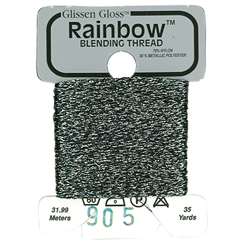 Glissen Gloss Rainbow Blending Thread 905 Gun Metal Gray THUMBNAIL