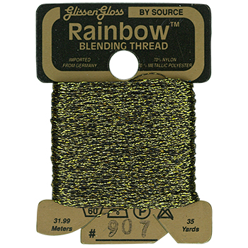 Glissen Gloss Rainbow Blending Thread 907 Black Gold THUMBNAIL