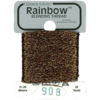 Glissen Gloss Rainbow Blending Thread 908 Black Copper THUMBNAIL