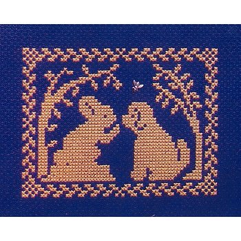 Handblessings - Spring Silhouette - Bunny Tells Puppy - Don't Chase Bunnies