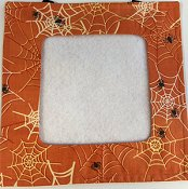 Stitch A Gift Banner - Orange Spider Webs THUMBNAIL
