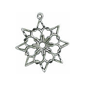 Antique Silver Elsa Snowflake Charm MAIN