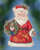Jim Shore by Mill Hill - Winter Wishes Santa THUMBNAIL