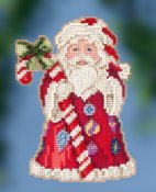 Jim Shore by Mill Hill - Candy Cane Santa THUMBNAIL