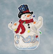 Jim Shore by Mill Hill - Snowman with Lights THUMBNAIL