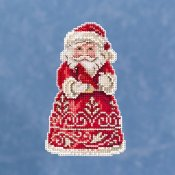 Jim Shore by Mill Hill - Santa With Cardinal THUMBNAIL