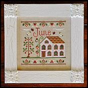 Country Cottage Needleworks - Cottage of the Month - June Cottage THUMBNAIL