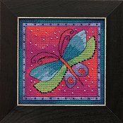 Laurel Burch - Flying Colors By Mill Hill - Dragonfly Fuchsia