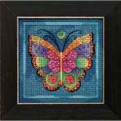 Laurel Burch - Flying Colors By Mill Hill - Butterfly Capri THUMBNAIL