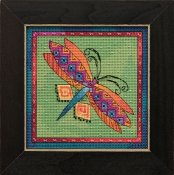 Laurel Burch - Flying Colors By Mill Hill - Dragonfly Lime THUMBNAIL