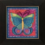 Laurel Burch - Flying Colors By Mill Hill - Butterfly Fuchsia THUMBNAIL