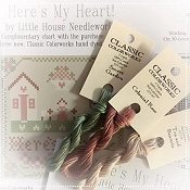"Classic Colorworks - 3 New 2017 Cotton Colors w/ Free LHN Chart ""Here's My Heart"" THUMBNAIL"
