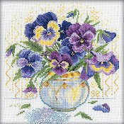 RTO Cross Stitch Kit - Pansies