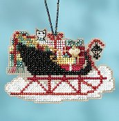 Mill Hill Sleigh Ride Bead Kit - Vintage Sleigh