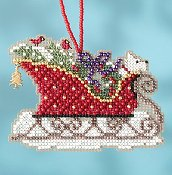 Mill Hill Sleigh Ride Bead Kit - Evergreen Sleigh