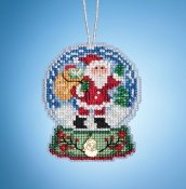 Mill Hill Snow Globe Charmed Ornaments - Santa Globe THUMBNAIL