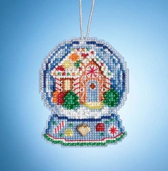 Mill Hill Snow Globe Charmed Ornaments - Gingerbread House Globe MAIN