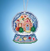 Mill Hill Snow Globe Charmed Ornaments - Gingerbread House Globe THUMBNAIL