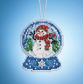 Mill Hill Snow Globe Charmed Ornaments - Snowman Globe THUMBNAIL