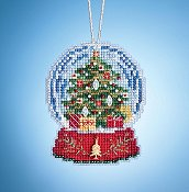 Mill Hill Snow Globe Charmed Ornaments - Christmas Tree Globe THUMBNAIL