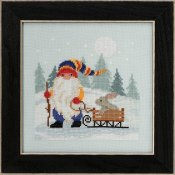 Mill Hill Gnome Quartet - Sledding Gnome THUMBNAIL