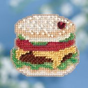 Mill Hill Spring Bouquet 2018 Ornament - Hamburger THUMBNAIL