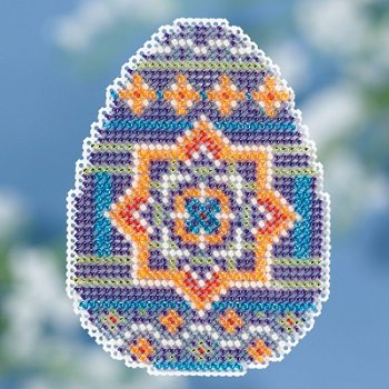 Mill Hill Spring Bouquet 2018 Ornament - Medallion Egg_MAIN