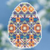 Mill Hill Spring Bouquet 2018 Ornament - Mosaic Egg THUMBNAIL