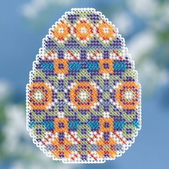 Mill Hill Spring Bouquet 2018 Ornament - Mosaic Egg_MAIN