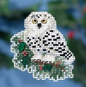 Mill Hill 2016 Winter Holiday Ornament - Snowy Owlet THUMBNAIL