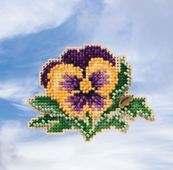 Mill Hill Spring Bouquet 2019 Ornament - Tricolor Pansy_MAIN