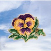 Mill Hill Spring Bouquet 2019 Ornament - Tricolor Pansy THUMBNAIL