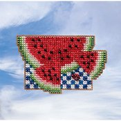 Mill Hill Spring Bouquet 2019 Ornament - Watermelon THUMBNAIL
