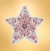 Mill Hill 2019 Winter Holiday Ornament - Filigree Star THUMBNAIL