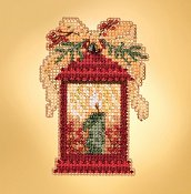 Mill Hill 2019 Winter Holiday Ornament - Christmas Lantern THUMBNAIL