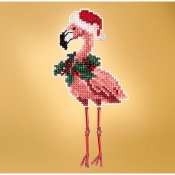 Mill Hill 2019 Winter Holiday Ornament - Holiday Flamingo THUMBNAIL