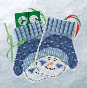 Mill Hill Bead Kit Mittens Trilogy - Snowman Mittens THUMBNAIL