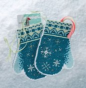 Mill Hill Bead Kit Mittens Trilogy - Snowflake Mittens THUMBNAIL
