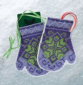 Mill Hill Bead Kit Mittens Trilogy - Star Mittens THUMBNAIL