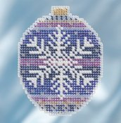Mill Hill 2018 Beaded Holiday Ornament - Royal Snowflake THUMBNAIL