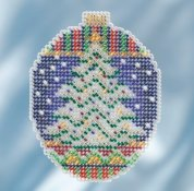 Mill Hill 2018 Beaded Holiday Ornament - Icy Evergreen THUMBNAIL