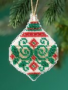 Mill Hill Beaded Holiday Ornament 2019 - Emerald Flourish THUMBNAIL