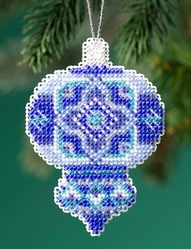 Mill Hill Beaded Holiday Ornament 2019 - Azure Medallion MAIN